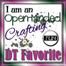 I am a DT FAvourite at Open Minded Crafting Fun