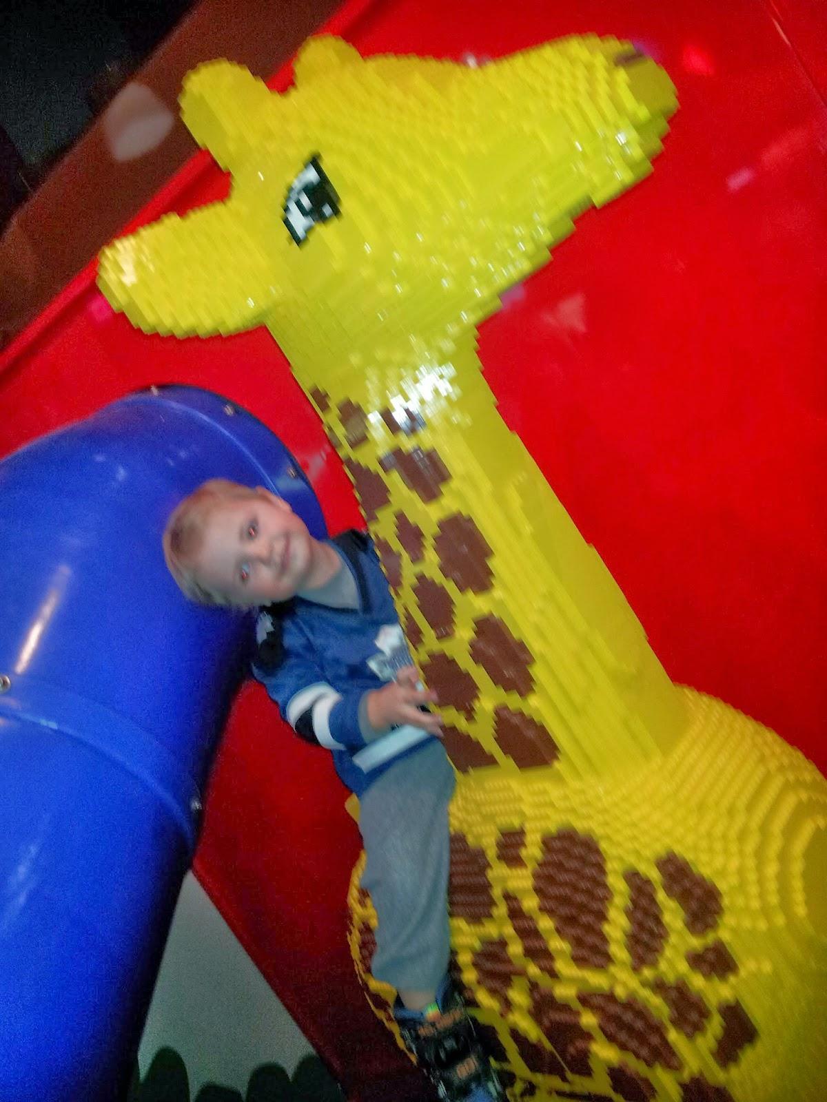 Legoland Lego giraffe, kids activities, Toronto