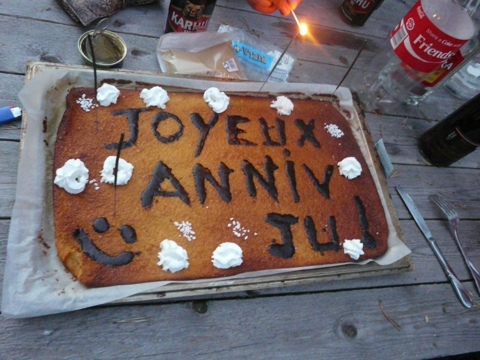 Tervetuloa Suomi Joyeux Anniversaire Julie