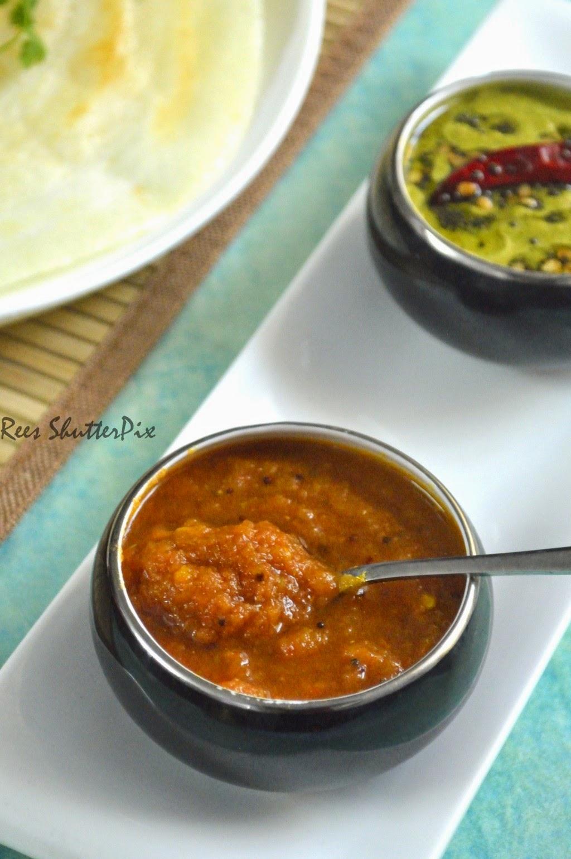 thakali chutney,easy chutney with onions and tomato