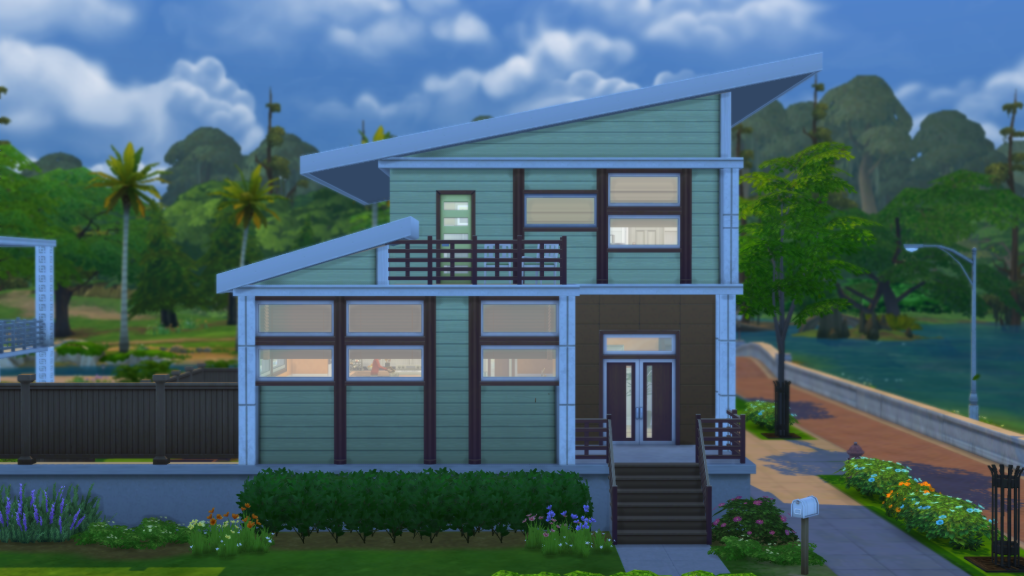 My sims 4 blog new houses by simple realty for Simple modern house sims 4