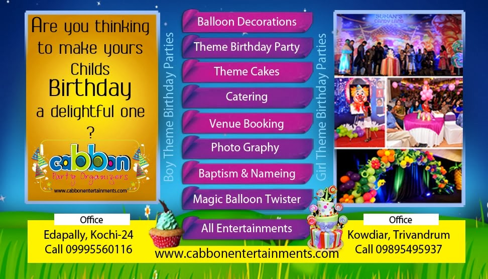 Birthday Party Organisers in Cochin Kerala