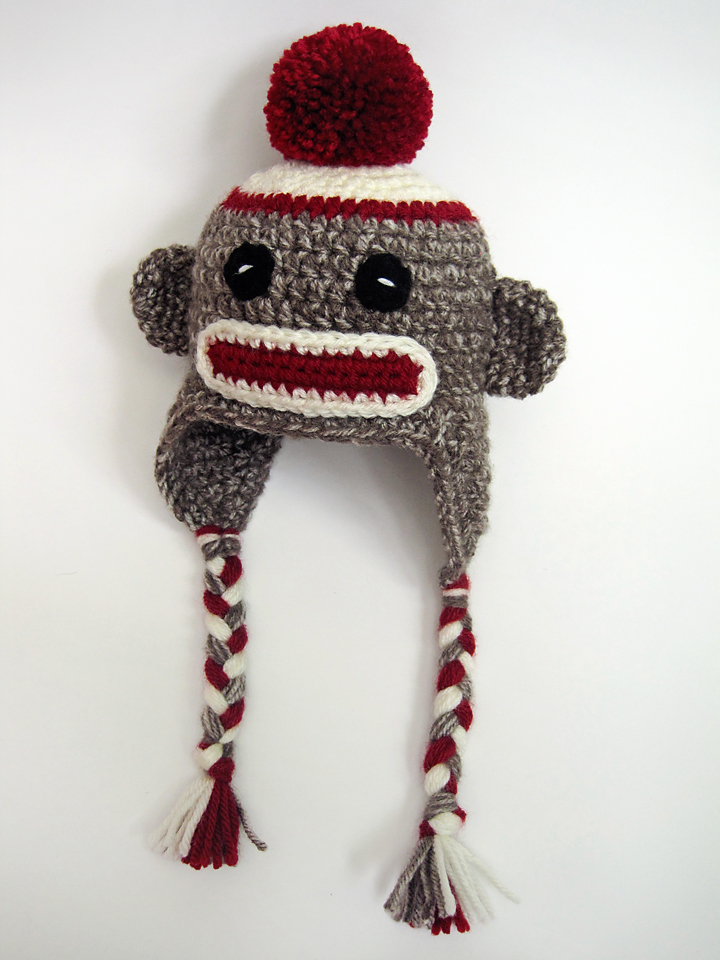 Seriously Daisies Sock Monkey Cuteness