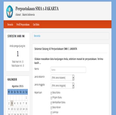 Source code Download Web untuk Aplikasi Perpusatakaan berbasis Web PHP & Mysql
