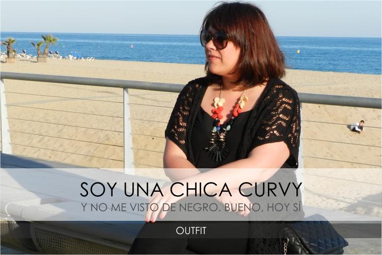 Soy una chica Curvy y no visto de negro (pero hoy sí) · Outfit