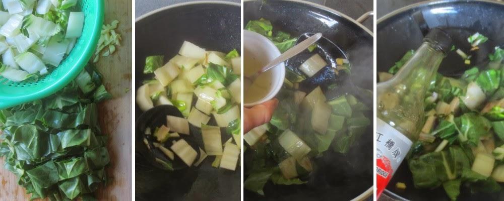 Zubereitung Gebratener Mangold, asiatisch angehaucht