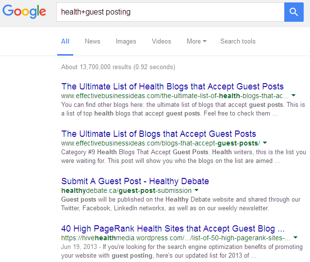 health+guest posting search results