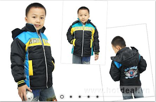 Kiểu áo phao ấm 3 lớp cho bé trai