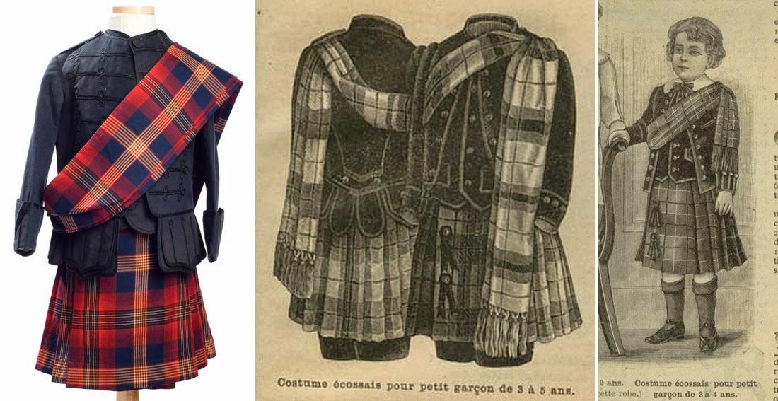 Les petites mains histoire de mode enfantine les for Pourquoi ecossais portent kilt