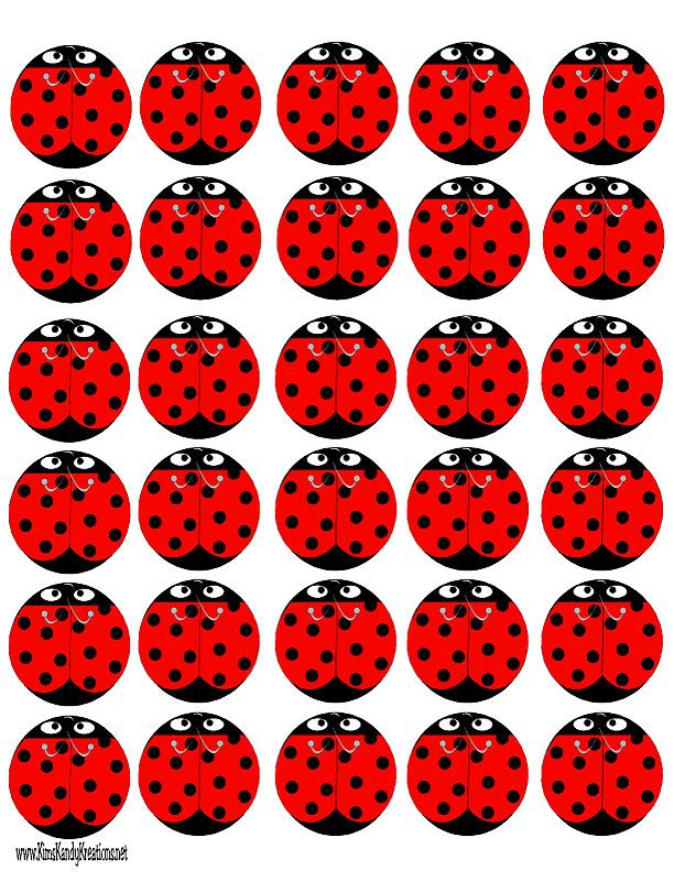 Selective image within ladybug printable