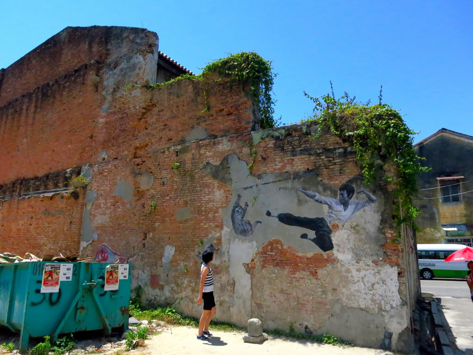Mural painting in Georgetown, Penang, Malaysia