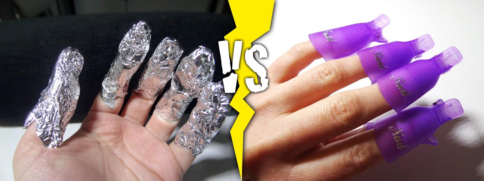 Clips en plastique dépose semi-permanent aluminium ongles