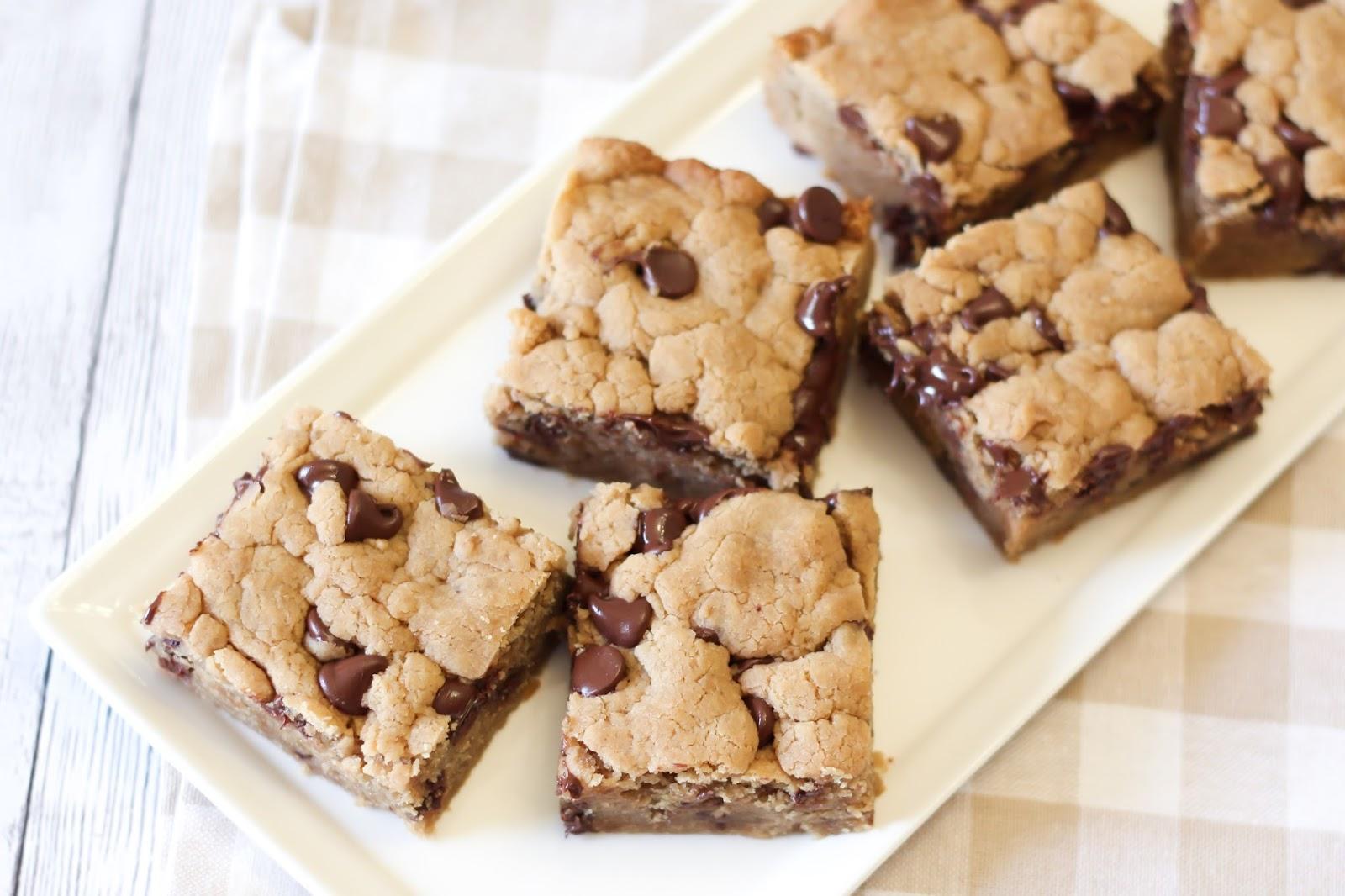 ... Treats: gluten free vegan chocolate chip peanut butter cookie bars