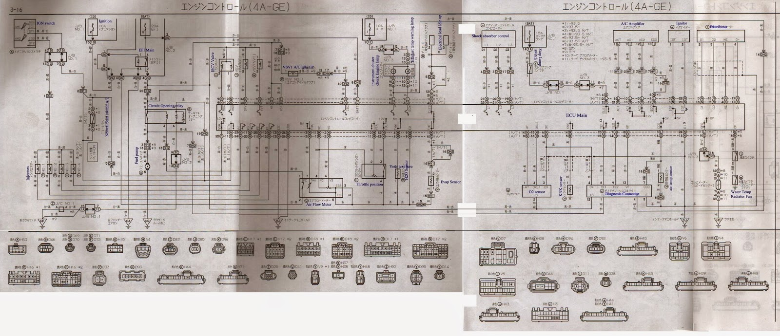 [ZTBE_9966]  Toyota ECU pinouts: 4A-GE 20V AE101 ECU pinout,wiring diagram | 20v Wiring Diagram |  | Toyota ECU pinouts