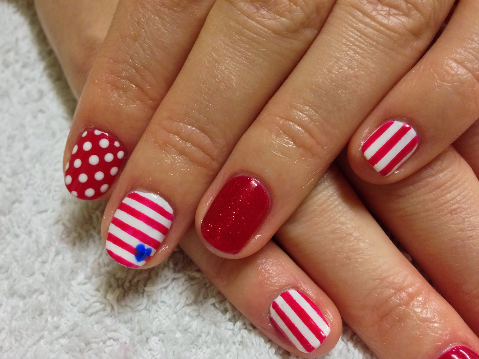 Brush up and polish up cnd shellac nail art nautical nails cnd shellac nail art nautical nails prinsesfo Image collections