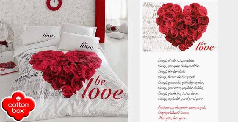 cottonbox be love nevresim takımı