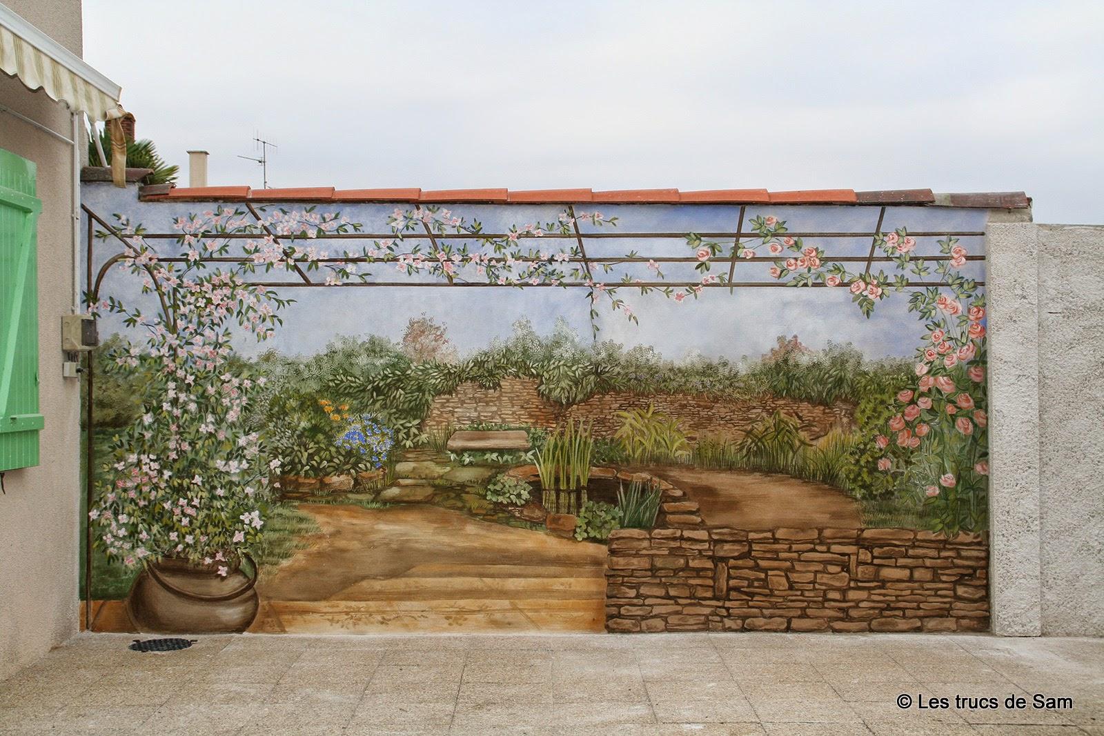 Les trucs de sam fresque l 39 ancienne sur un mur ext rieur - Fresque sur mur exterieur ...