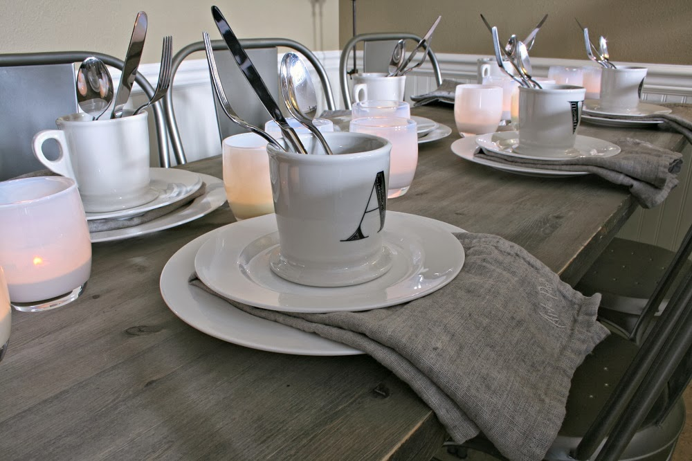 Arte Pura Linen Napkins, Industrial Chin, French Industrial Chic