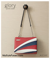 Miche Bags Glory Petite Shell June 2012 - Red, White & Blue Patriotic Purse