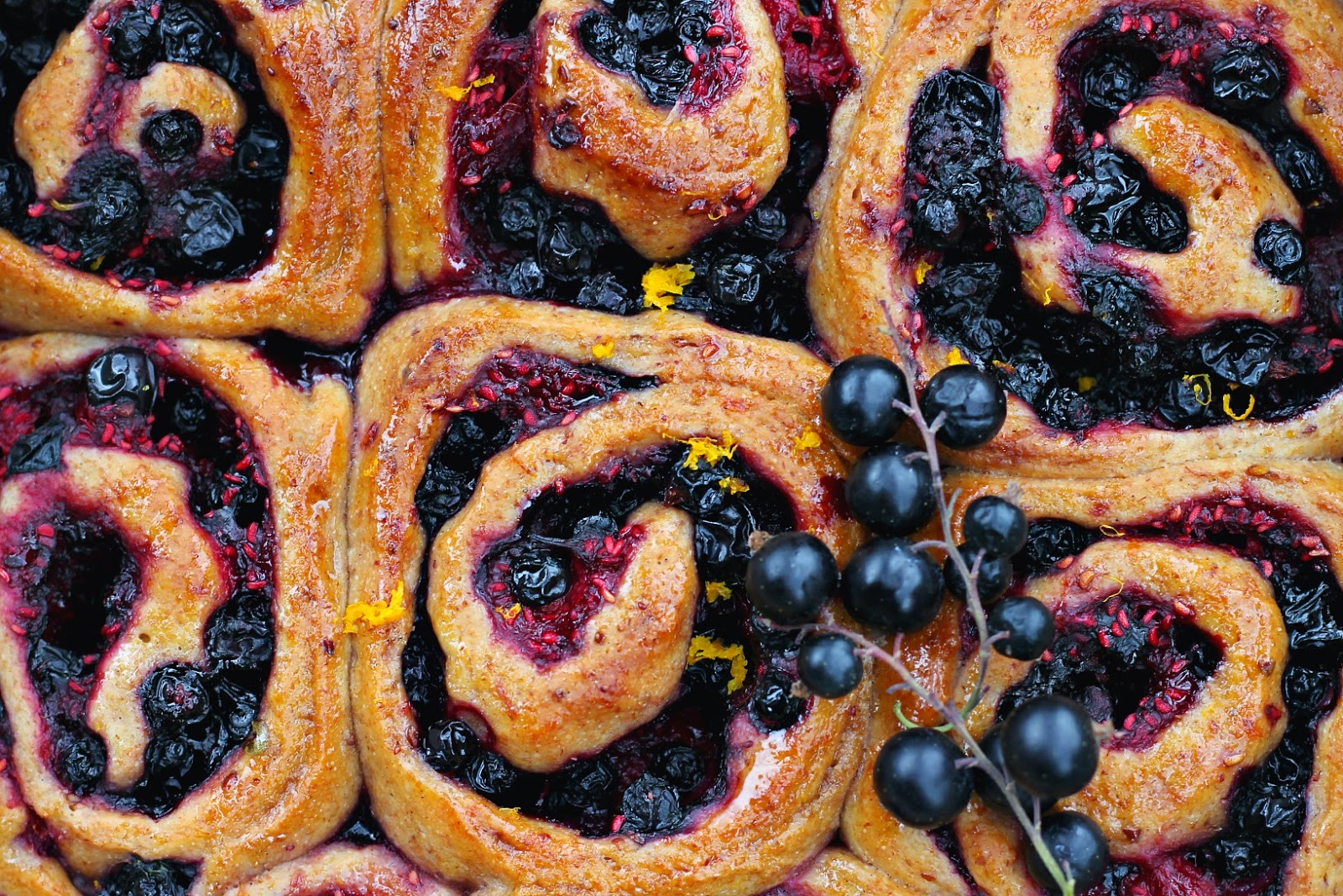 Spelt Summer Berry Buns with Maple, Orange + Cardamom | happy hearted kitchen