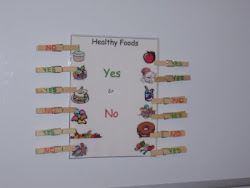 Healthy Foods clothespin game