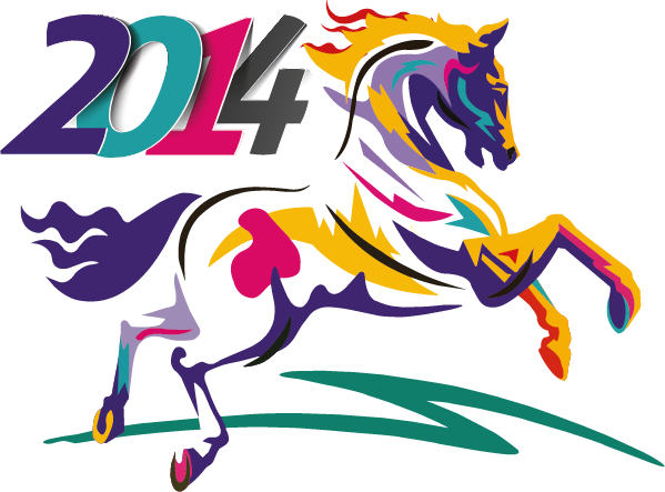 2014 Año del caballo - Vector