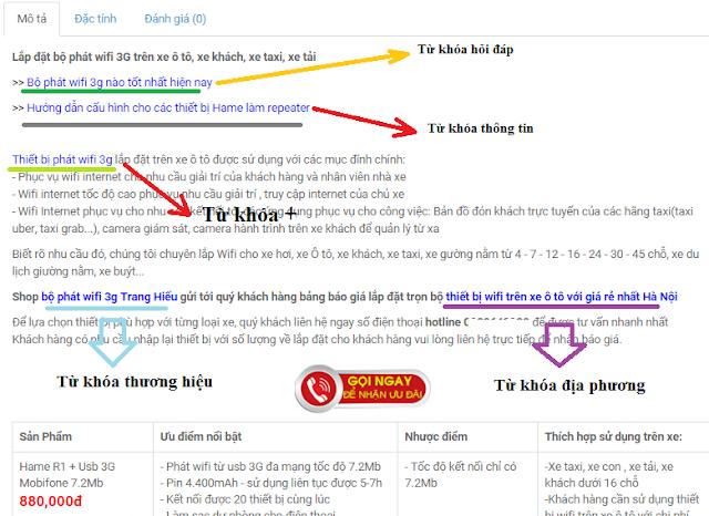 Cách đặt link mẫu trên bài viết