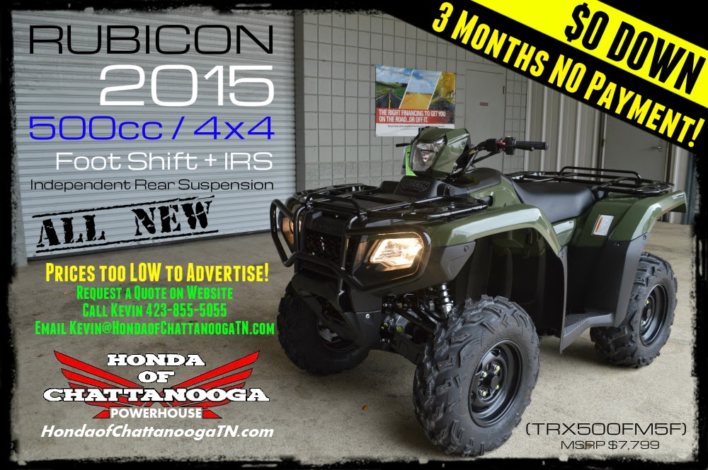 2015 TRX500FM5F Rubicon 500 Sale Price Georgia Tennessee Chattanooga Alabama