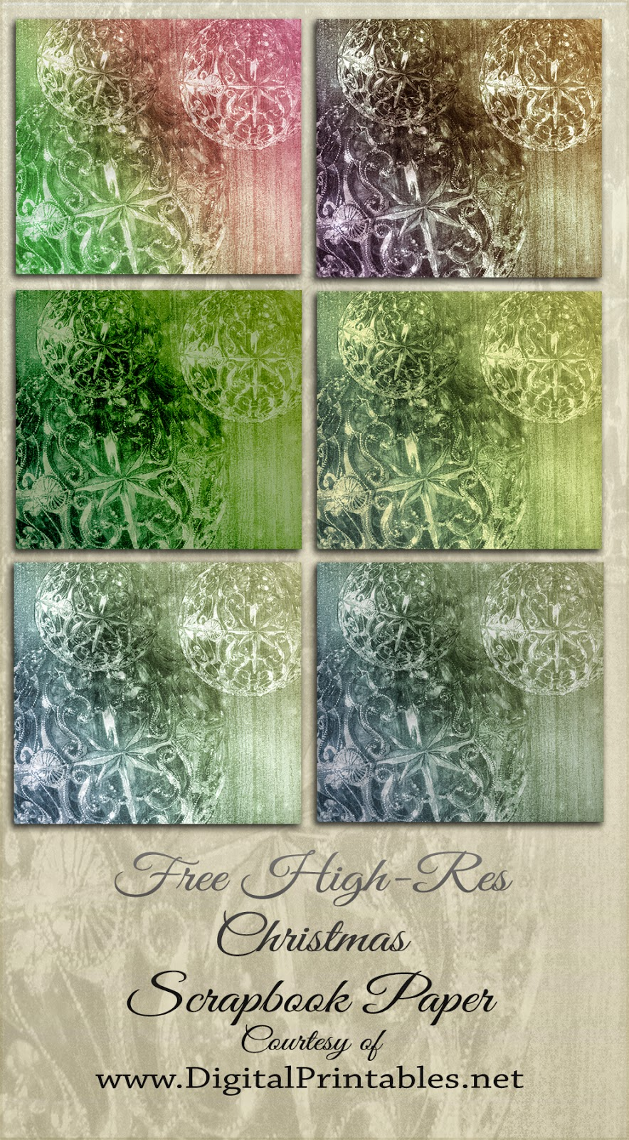 digital scrapbook papers Christmas