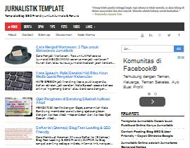 Jurnalistik Template - Template SEO Friendly Simple Fast Loading