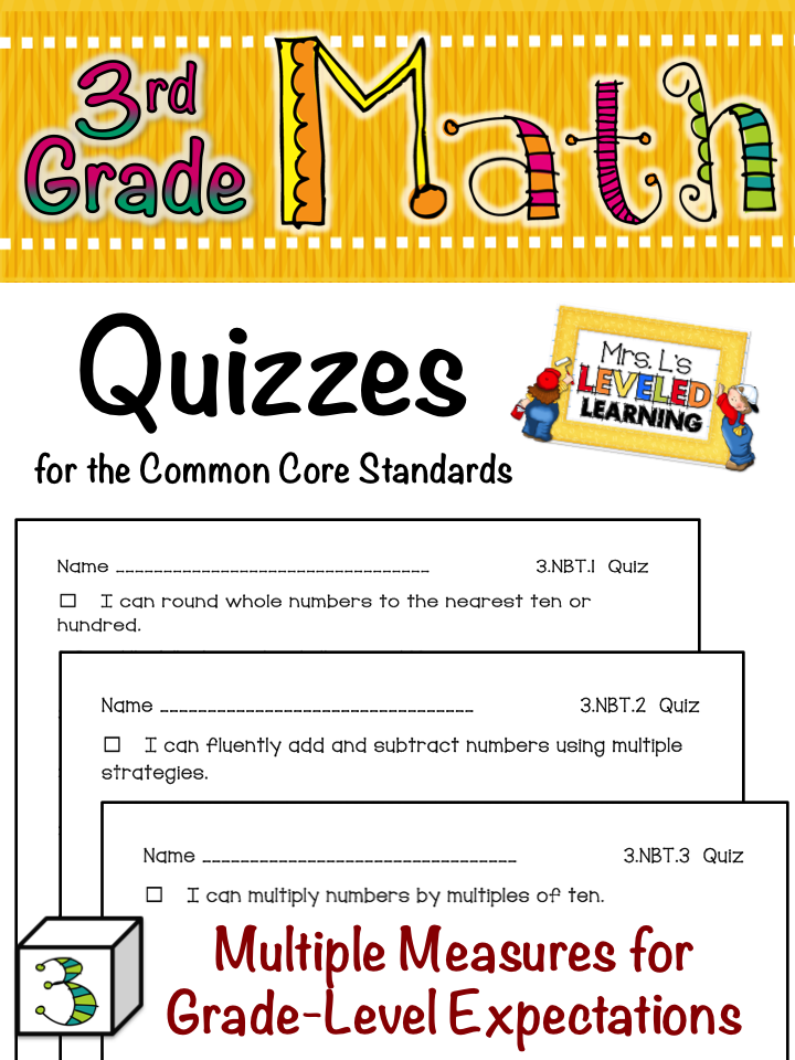 Working on it Wednesday Night - FREE Quizzes for Common Core Math ...