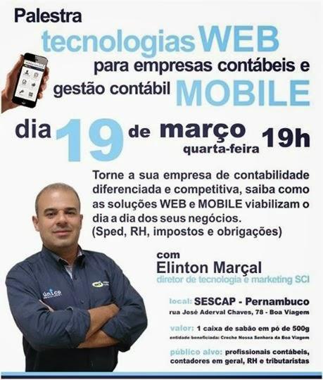 Inscrição palestra tecnologias WEB e Mobile para empresas contábeis