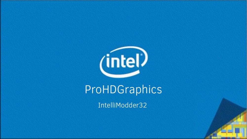 Intel gma 3600 modded driver