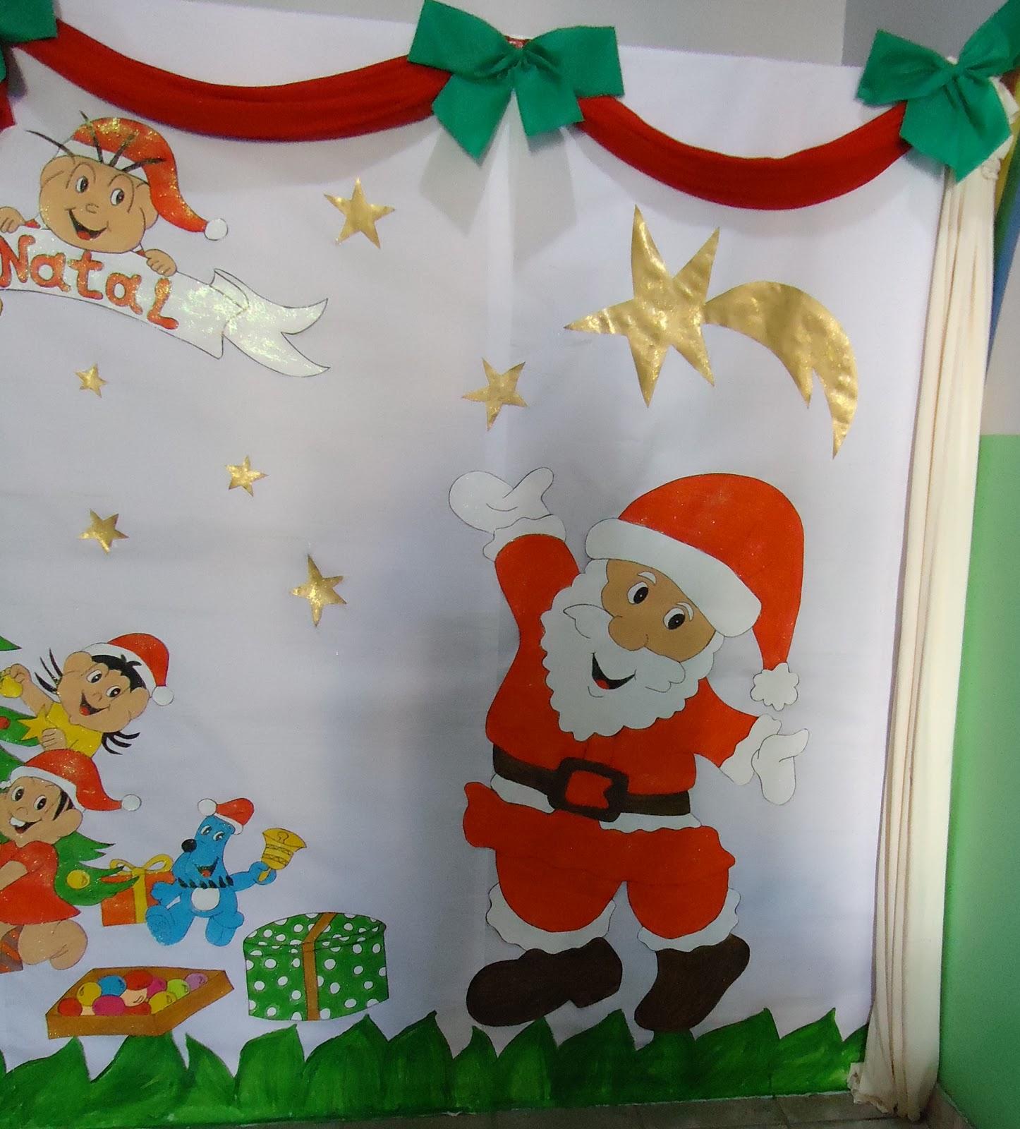 Wcb criatividades mural de natal for Mural de natal 4 ano