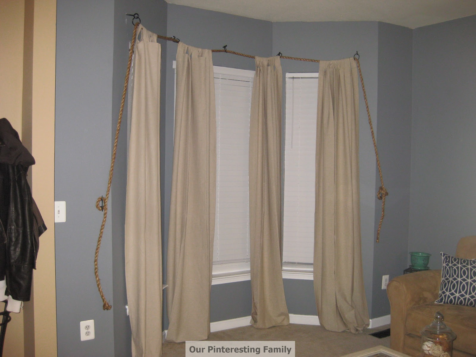 Rope Turned Nautical Theme Curtain Rod By Chris U0026 Amy