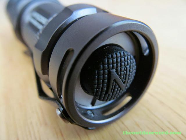 Nitecore SRT3 Defender EDC Flashlight: Closeup Of Switch