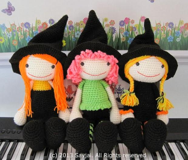 Amigurumi Halloween Free : The witches amigurumi pattern sayjai crochet