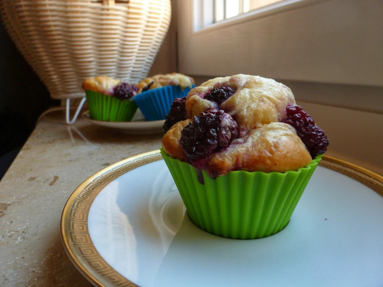Ina Is(s)t: Kalorienarme Brombeer-Vanille-Muffins
