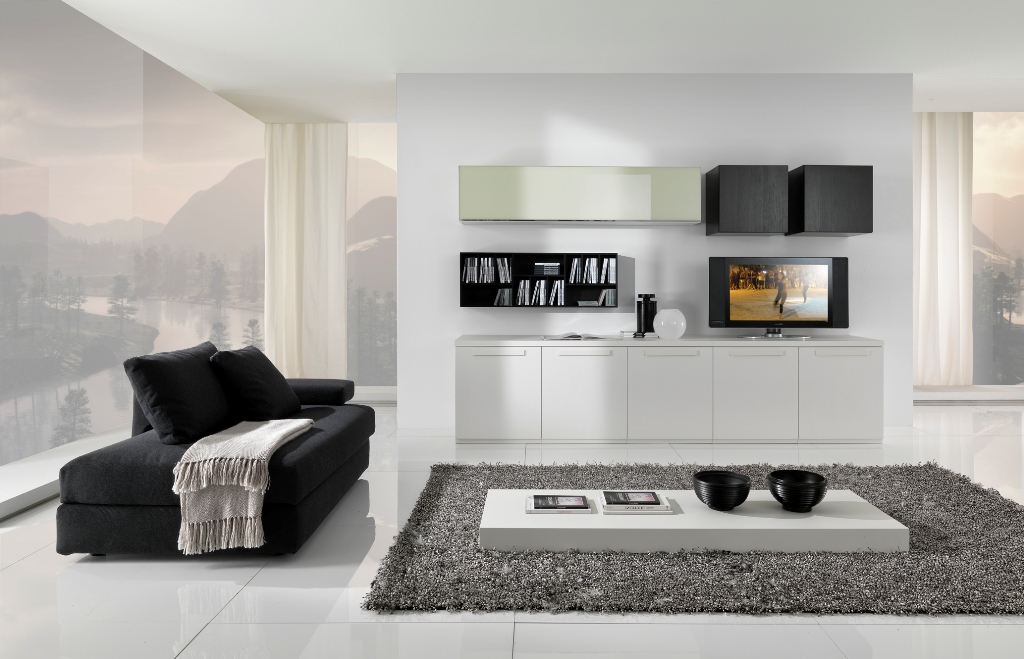 Dise o de salas minimalistas en blanco y negro ideas for Ideas decorativas home salas