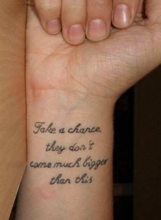 Tatto Sayings on Tattoo Image  Tattoo Quotes
