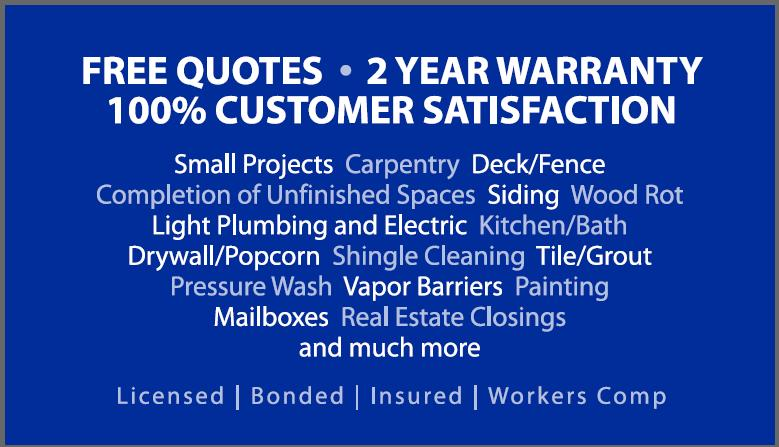 Winston Salem House Painting Contractor Exterior Painting - Home remodeling business cards