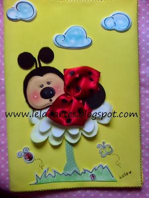 decoração para caderno joaninha