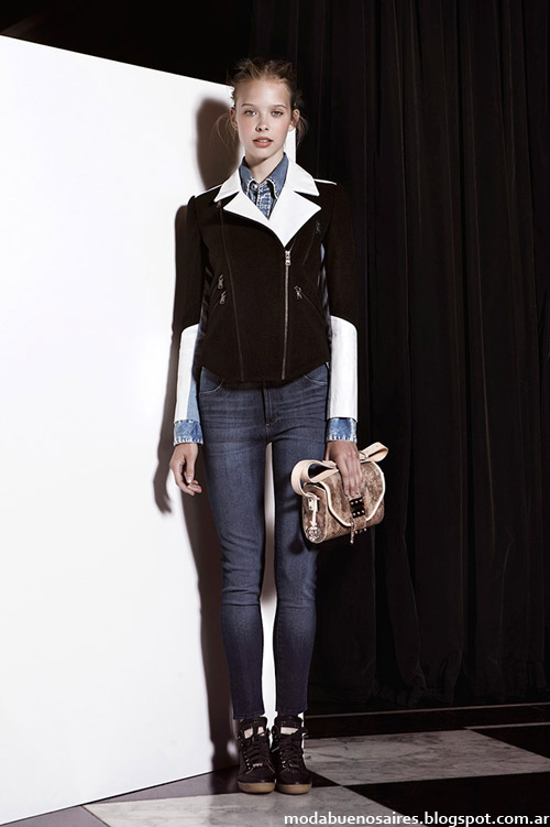 Jazmin Chebar otoño invierno 2014 moda invierno 2014.