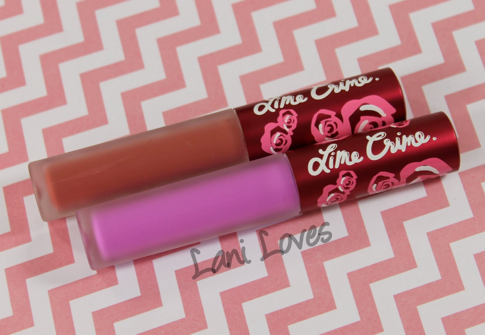 Lime Crime Velvetines - Riot and Rave Swatches & Review