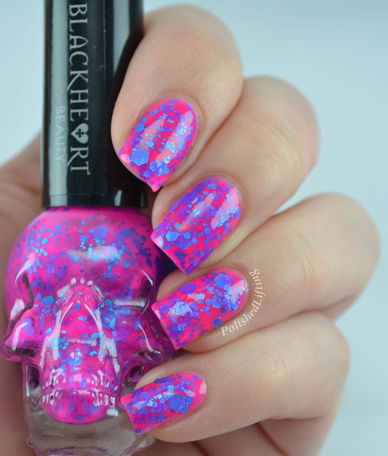 Blackheart Beauty Splatter Pink Blue