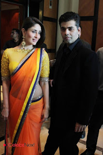 Kareena Kapoor Pictures in Saree at FICCI Frames 2013 Launch Event  0014
