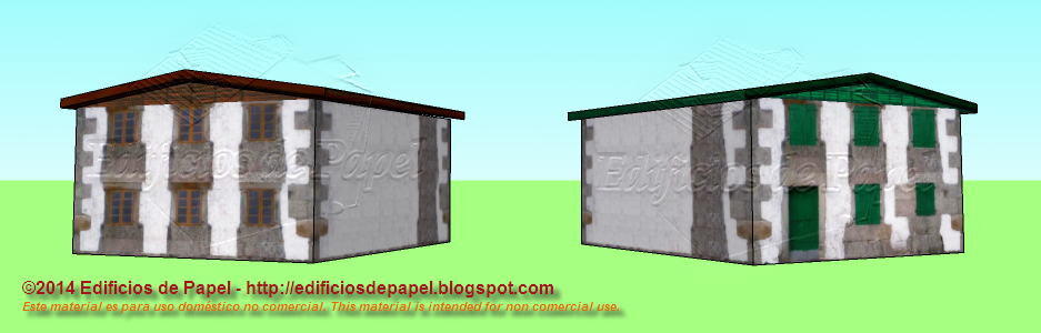 This paper model is available in brown (1498) or green (1500) windows