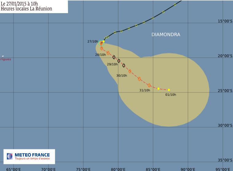 Tempête tropical Diamondra
