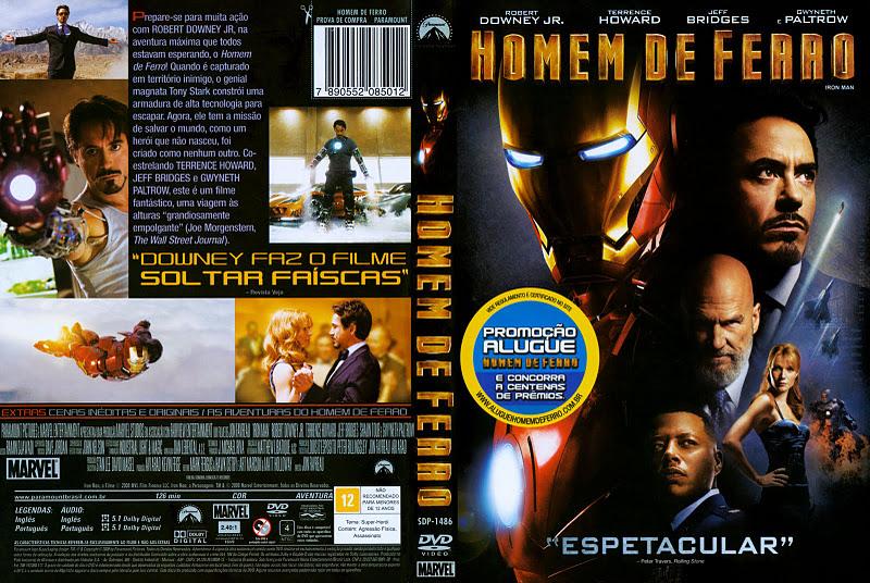 Capas Medina - Somente Capas de DVD: Homem de Ferro