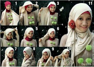 model jilbab pasmina bahan sifon